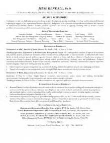economics resume entry level senior economist resume