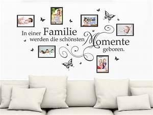 Foto Auf Magnetwand : wandtattoo fotorahmen in einer familie werden wandtattoo de ~ Sanjose-hotels-ca.com Haus und Dekorationen