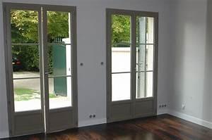 fenetres pvc couleurs vue interieure With porte fenetre pvc couleur bois