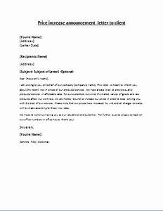 Price Increase Announcement Letter writeletter2