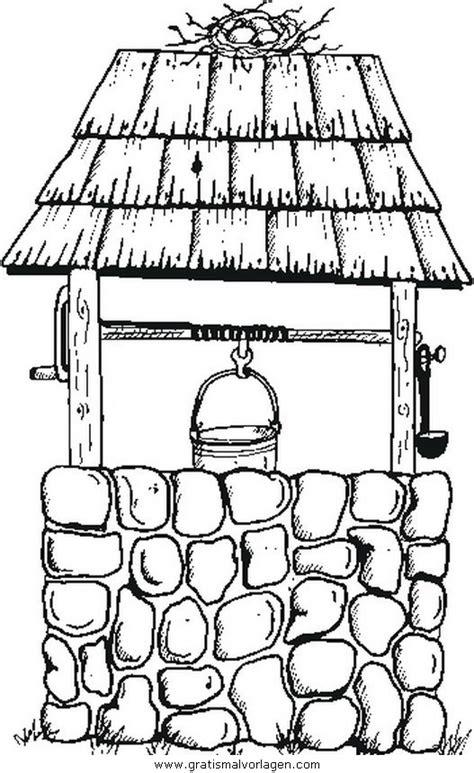 brunnen gratis malvorlage  diverse malvorlagen garten