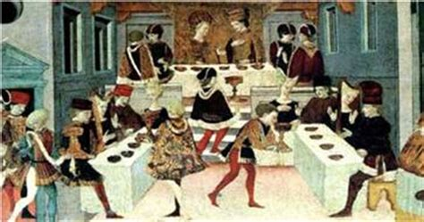 banchetti medievali a tavola nel medioevo ad convivium
