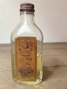 Vintage Glass Olive Oil Bottle
