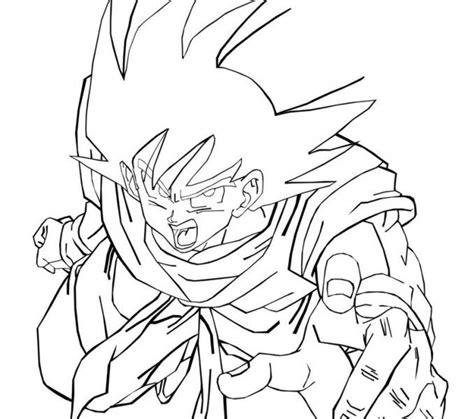 Goku Kleurplaat by Goku Coloring Pages Free Printable Z Coloring