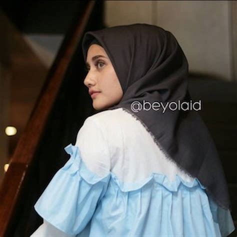 jilbab anti air warna mocca voal motif