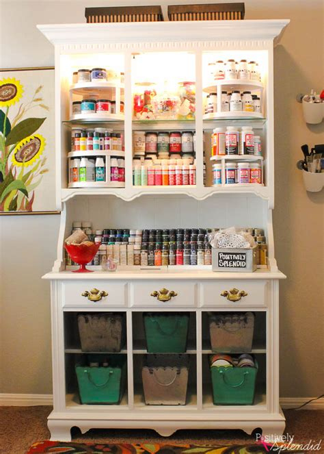 Craft Hutch - craft storage center from and hutch