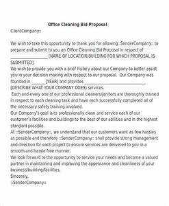 21 business proposal letter examples pdf doc With commercial cleaning proposal letter