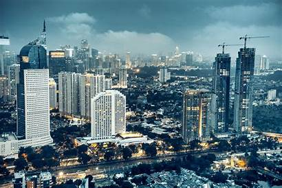 Jakarta Skyline Dusk Indonesia Capital Move Istock