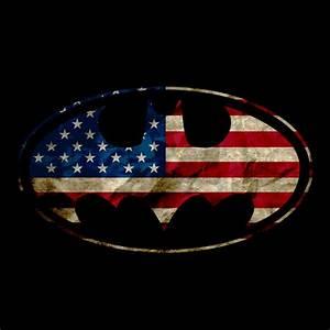 Batman American Flag Logo ThinkGeek
