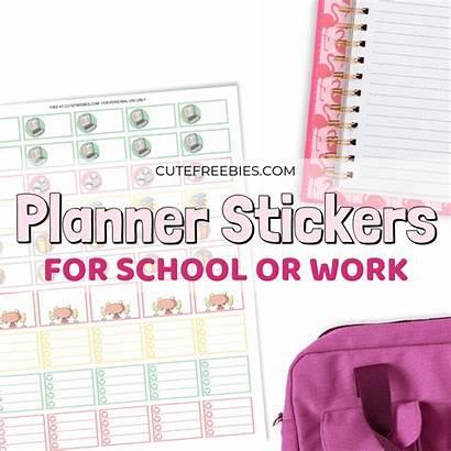 Stickers Planner Printable Laptop Pdf Power Freebies
