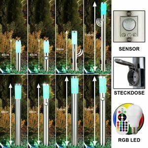 Außenbeleuchtung Mit Fernbedienung Steuern : led edelstahl sensor au en garten lampen mit steckdosen ~ Watch28wear.com Haus und Dekorationen