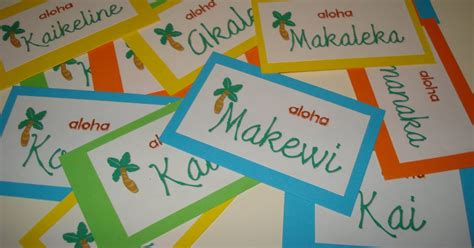 Click. Print. Stick. Cool Hawaiian