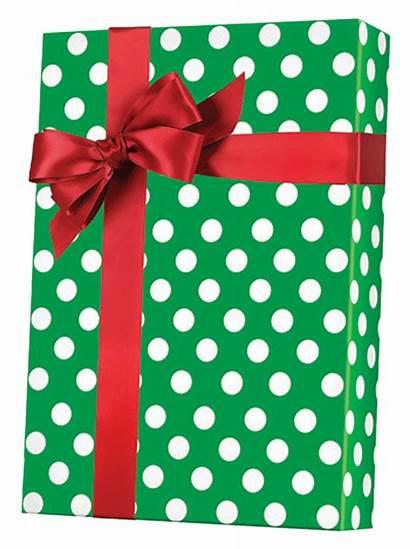 Gift Dot Wrap Polka Reversible Paper Shamrock