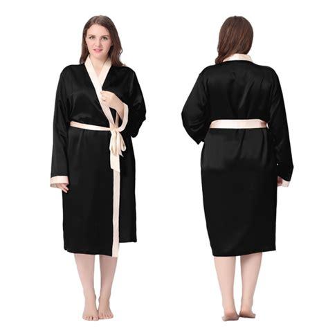 robe de chambre femme grande taille robe de chambre femme mi longue en soie 22 momme grande