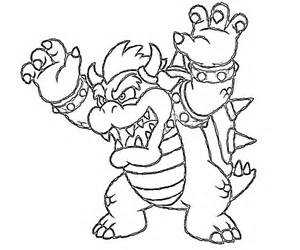 bowser coloring pages to print super mario tattoo pelautscom - Super Mario Bowser Coloring Pages