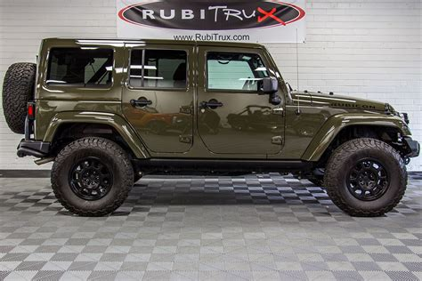 jeep passenger 2015 jeep wrangler rubicon unlimited tank green