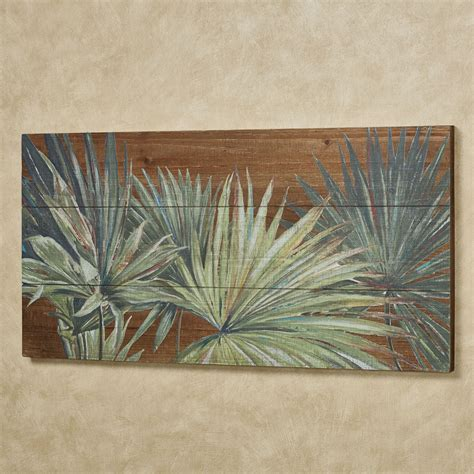 Our wood wall decor ideas save you both time and money over traditional art pieces, and are incredibly easy to customize. Tropical Foliage Slatted Wood Wall Art Panel
