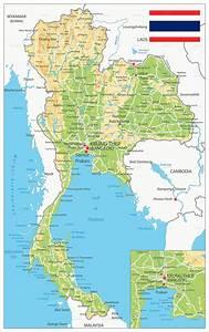 Thailand Physical Map
