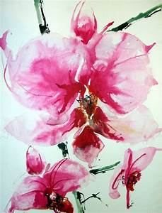 Orchid watercolor | Just 'Cuz | Pinterest