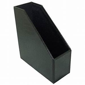 Faux Leather Magazine File Box - Black Croc in Magazine