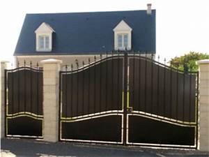 Portail 4 Metres 2 Vantaux : portail m tres tout ~ Edinachiropracticcenter.com Idées de Décoration