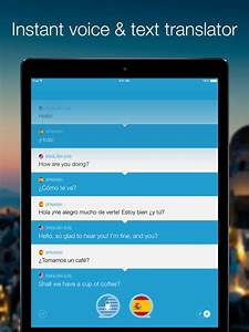 speak translate live voice and text translator on the With document translator app