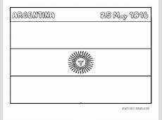 Printable Flag of argentina coloring page Printable
