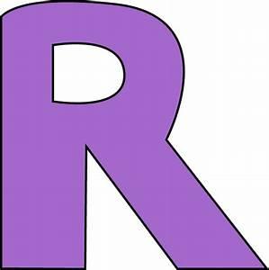 Purple Letter R Clipart