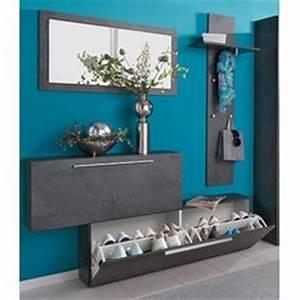 meubles range chaussures et vestiaires 3suisses With marvelous meuble etagere avec porte 13 range chaussures et porte manteau