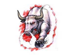 bull design angry bloody bull design tattoobite