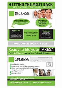 h block too accounting and tax preparation postcard With tax preparation flyers templates