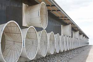 cross ventilation with a modification curtain baffles With dairy barn ventilation fans
