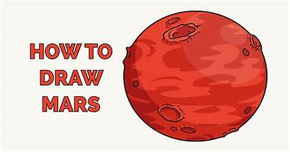 Mars Draw Drawing Easy Cartoon Space
