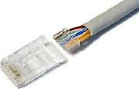 Cat 6 Wiring Diagram With Load Bar by Crimp Ends Rj45 Cat6 Lan Staggered 50u With Load Bar