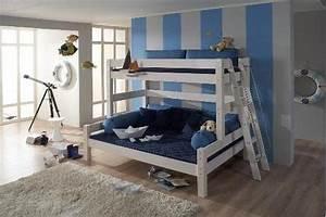 Lit 3 Couchages : lit superpose 3 couchages maison design ~ Teatrodelosmanantiales.com Idées de Décoration