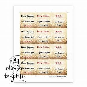 Printable Christmas gift tags template for Word, fully ...