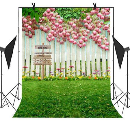 Backdrop Family by Greendecor Polyster 5x7ft Manor Style Backdrop Wood Wall