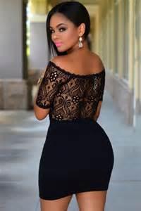 robe de mariã e moulante robes de mode robe moulante noir avec dentelle