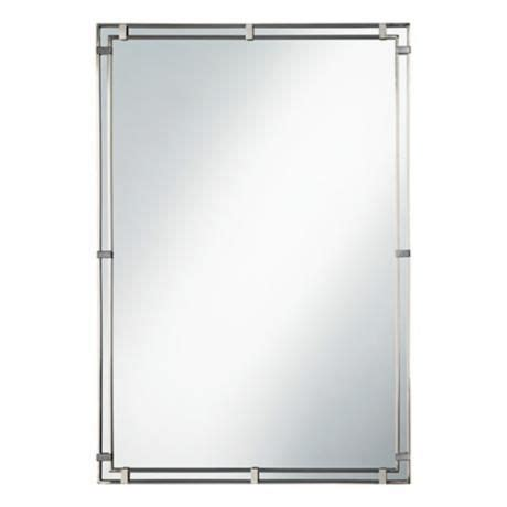 Murray Feiss Bathroom Mirrors by Feiss Place Brushed Steel 22 Quot X 33 Quot Wall Mirror