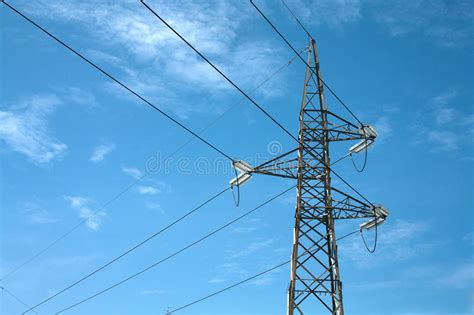 Elettric Pylons Truss In A Sky Stock Image - Image of ...