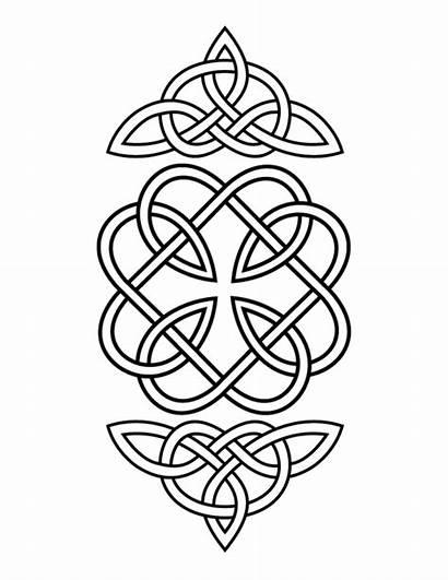 Celtic Coloring Pages Quilt Symbols Knot Irish