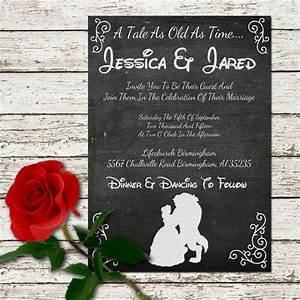 beauty and the beast wedding invitation printable With beauty and the beast be our guest wedding invitations