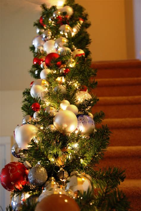 christmas banister holidays pinterest banisters