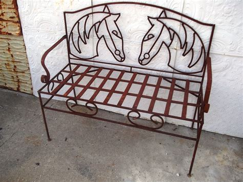 wrought iron bench metal seating