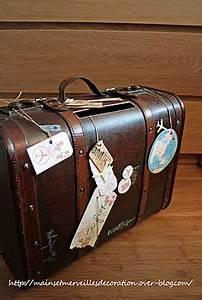 Valise Vintage Pas Cher : urne mariage on pinterest travel themed weddings retro and card boxes ~ Teatrodelosmanantiales.com Idées de Décoration