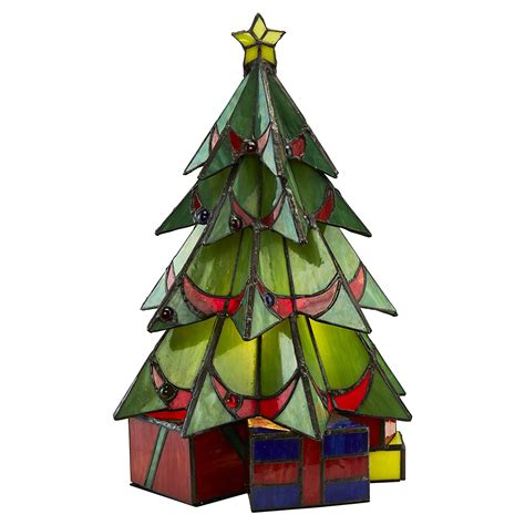 illuminated stained glass christmas tree sculpture so that 39 s cool