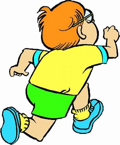 Child Running Clipart Clip Runner Run Cartoon