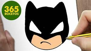 COMO DIBUJAR BATMAN EMOTICONOS WHATSAPP KAWAII PASO A PASO Dibujos kawaii fáciles YouTube