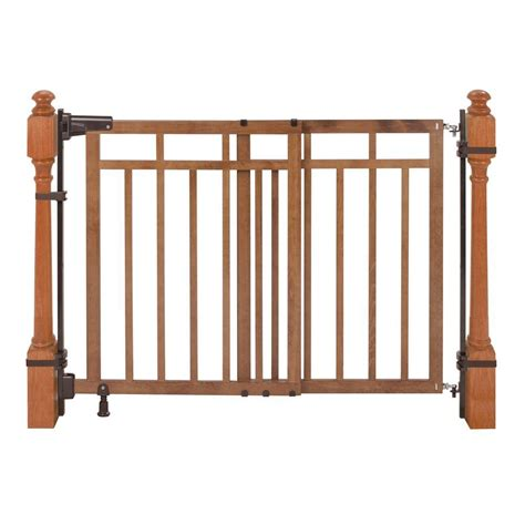 banister safety gate summer infant 33 in banister and stair gate with dual