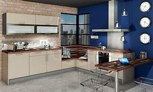 Cuisine Beige Et Bois : cuisine vitamin e glossy glam beige bleu 2v id e de ~ Dailycaller-alerts.com Idées de Décoration